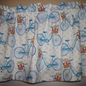 Blue Bike Bicycle Womans Valance